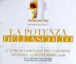 Forum AICP 2016, La potenza dell'ascolto