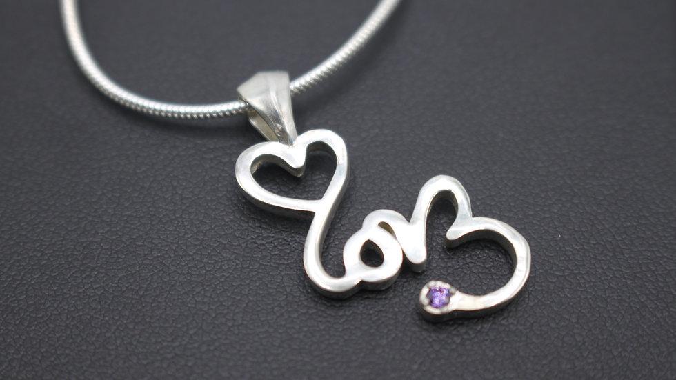SIGNATURE LOVE Amethyst Necklace