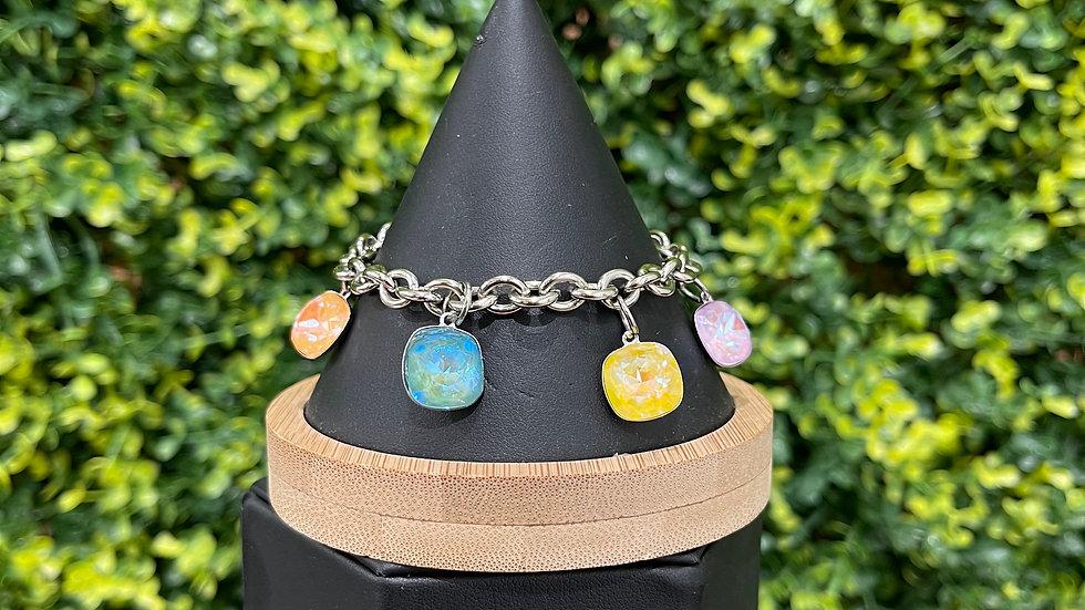 Pastel Cushion Charm Bracelet