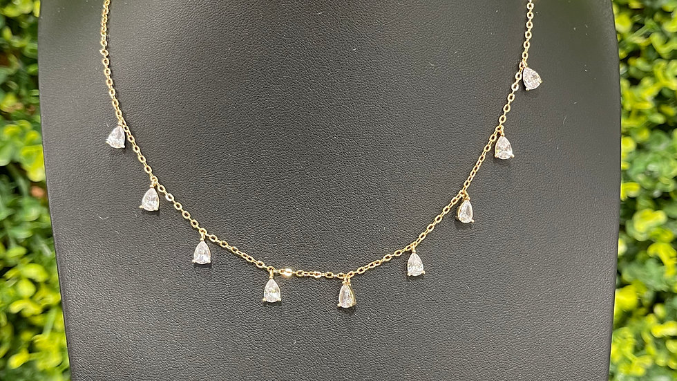 Teardrop Necklace - Gold