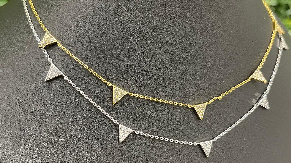 Mini Pyramid Necklace