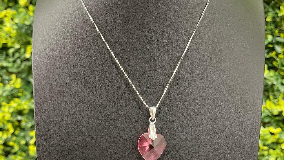 Heats a Fire Necklace (Pink)
