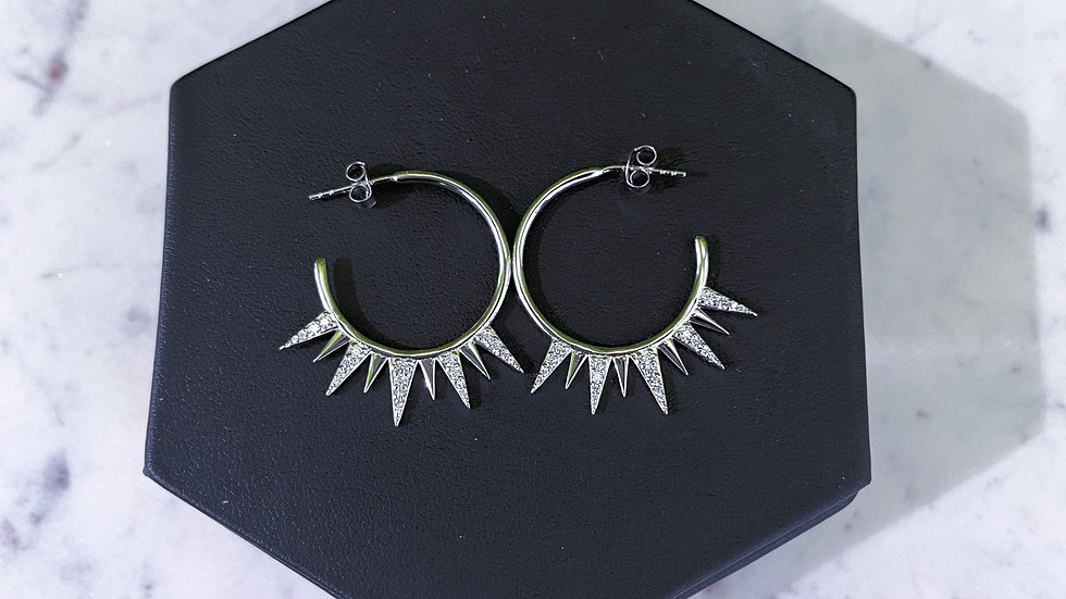 Crystal Spike Earrings