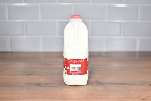 COTTESWOLD DAIRY ORGANIC SKIMMED MILK 2 LITRES