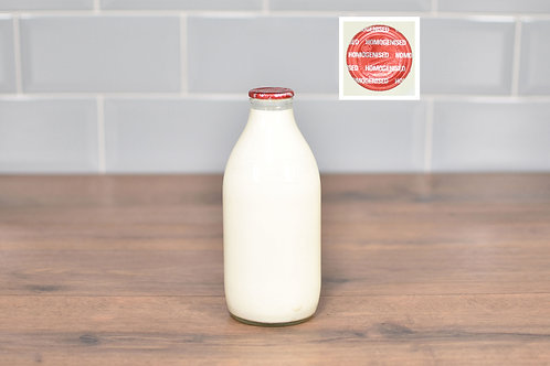COTTESWOLD DAIRY WHOLE (HOMOGENISED) MILK 1 PINT (568ml) GLASS