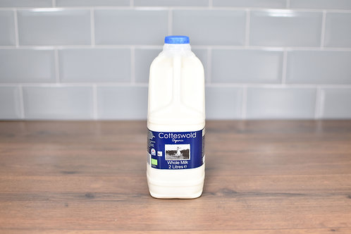 COTTESWOLD DAIRY ORGANIC WHOLE MILK 2 LITRES
