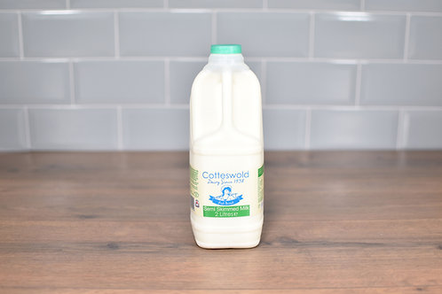 COTTESWOLD DAIRY SEMI-SKIMMED MILK 2 LITRES