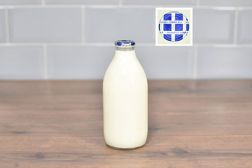 COTTESWOLD DAIRY SKIMMED MILK 1 PINT (568ml) GLASS