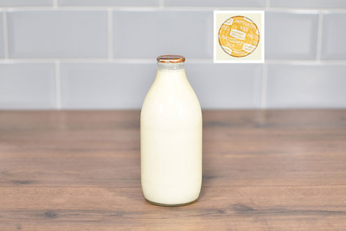 COTTESWOLD DAIRY CHANNEL ISLAND MILK 1 PINT (568ml) GLASS