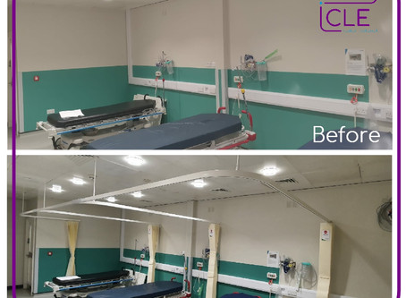 Cubicle Track - Before & After!