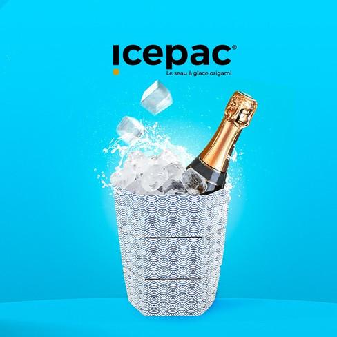 Icepac, le seau à glace origami