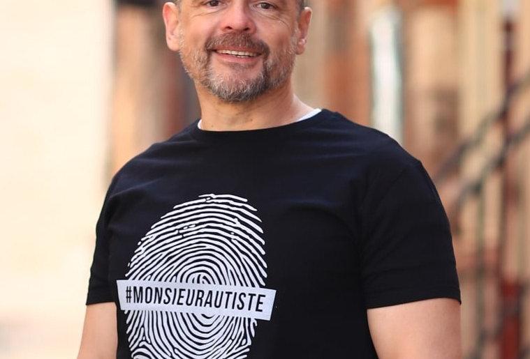 """T-shirt """"Empreinte Monsieur Autiste"""""""