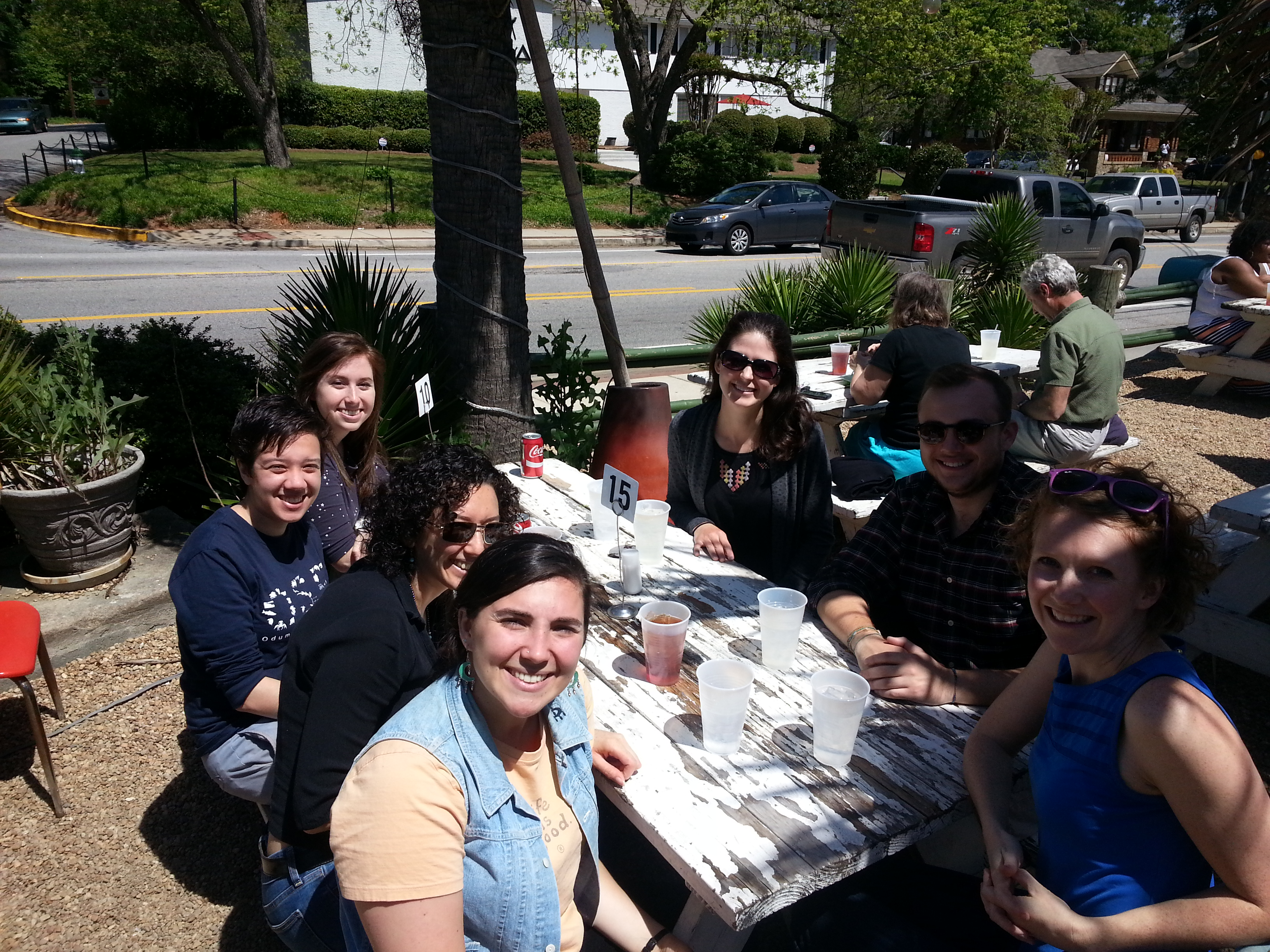 Fall 2014 lab brunch at Cali N' Titos