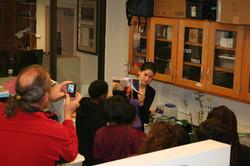 Dara Satterfield teaching local elementary school students!