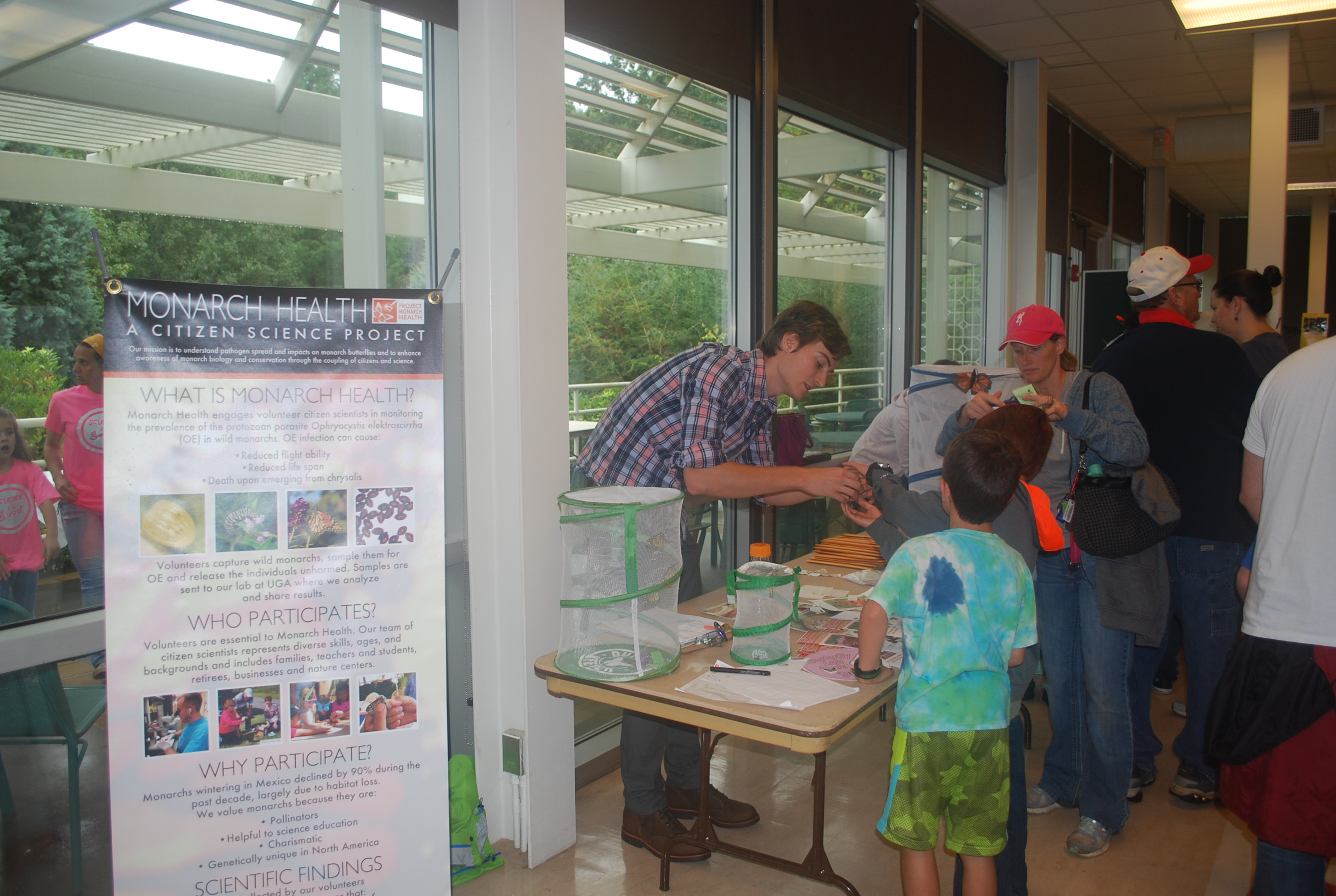 Stuart Sims manning an outreach table at Insectival 2015