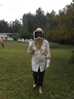 Paola suits up to learn about bees