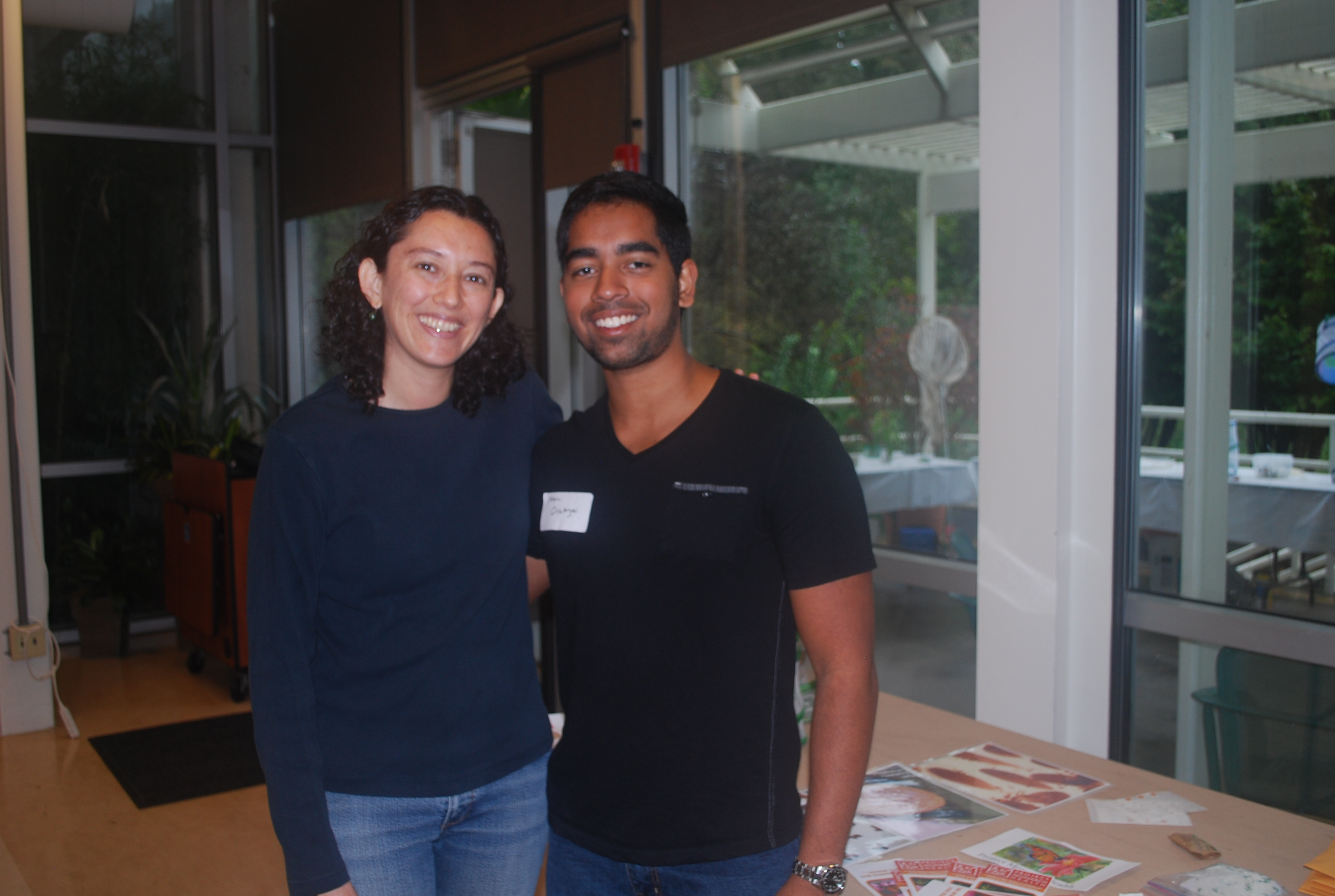 Paola Barriga and Sherayar Orakzai at Insectival 2015