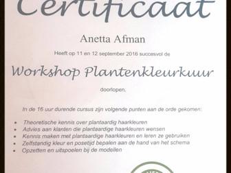 certificaat voor natuurlijke haarkleuring