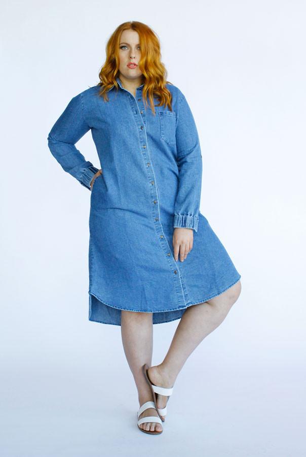 Rosario Vintage Dress- Blue Denim