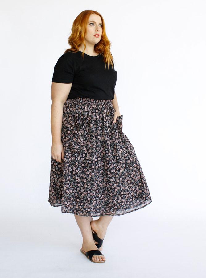 Aster Patch Pocket Skirt- Multi