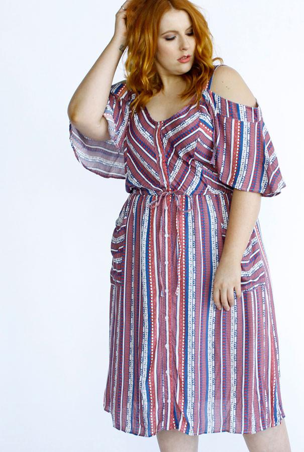 Lionheart Dress- Pink Stripe