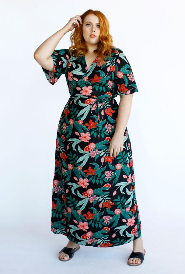 Hadley Maxi Wrap Dress-Jungle