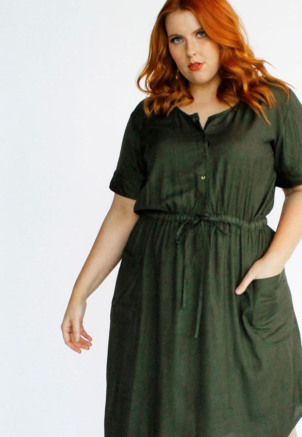Jemima Dress-Khaki