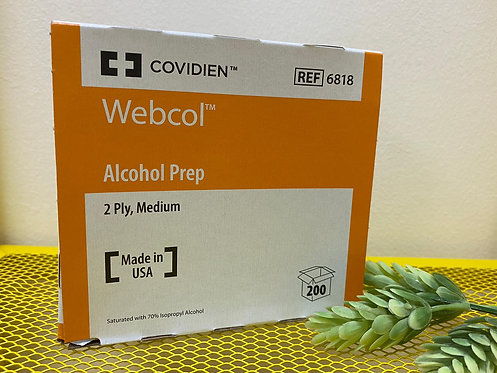 COVIDIEN Webcol 2ply Alcohol Wipe