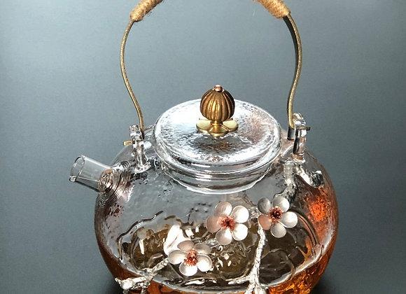 Handmade Glass Teapot Heat-Resistant