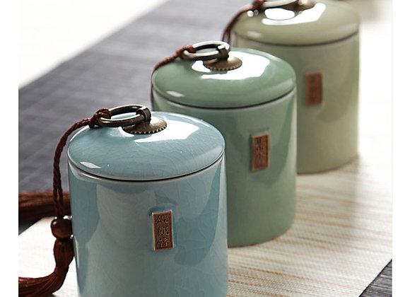 Ceramic Tea Box Pottery for Loose Leaf Tea 1pc