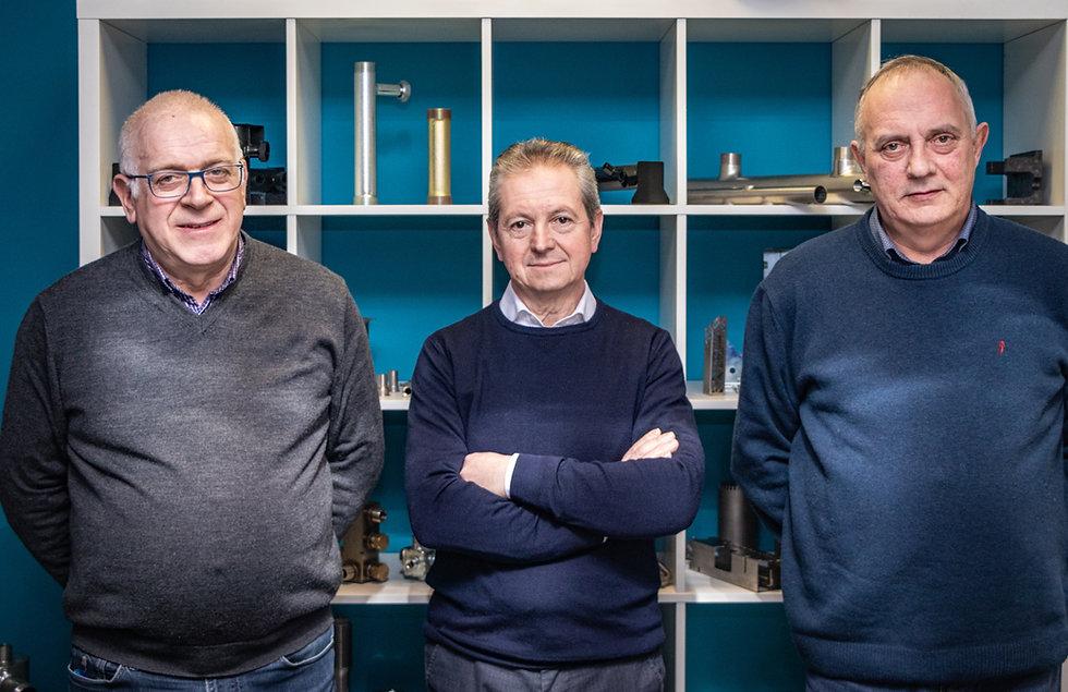 foto dei soci titolari Toniolo, Cervellin, Bellin