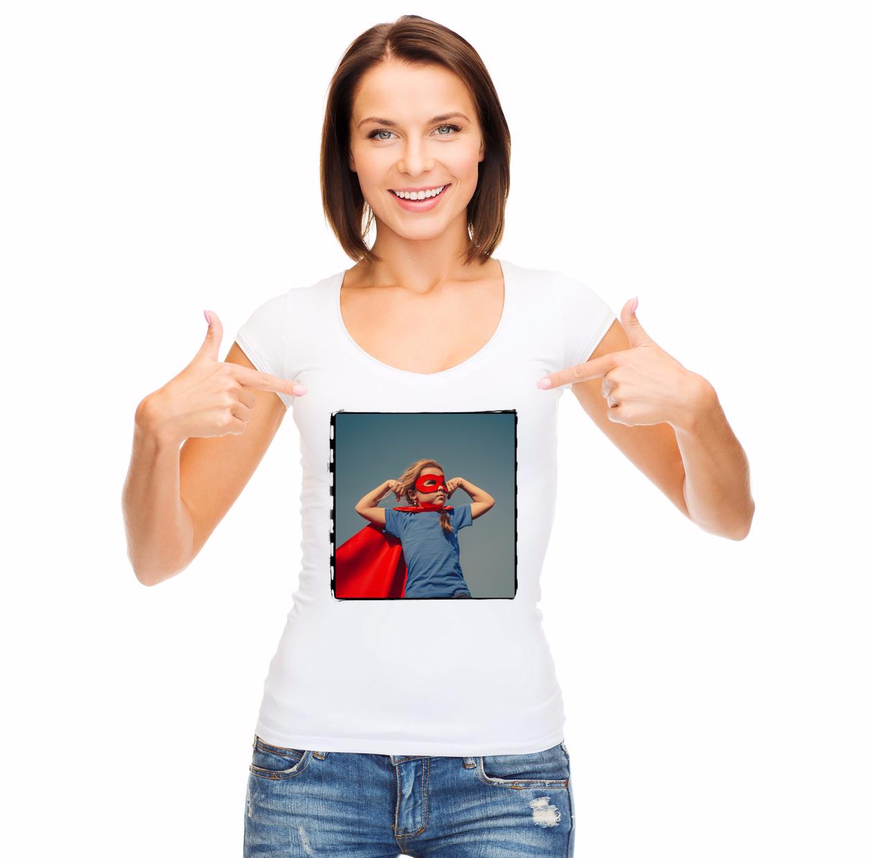 camiseta  chica con tu fotos