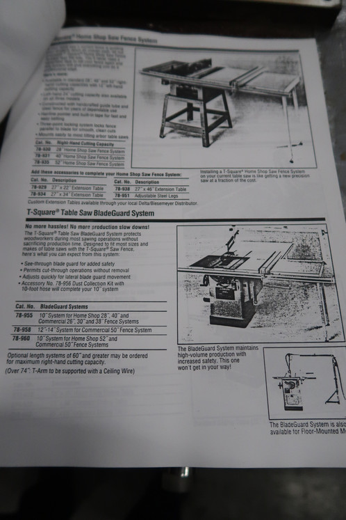 Jackson cochrane and co table saw 200 volts 3 phase 1760 rpm table dimensions 41w x 49l greentooth Images