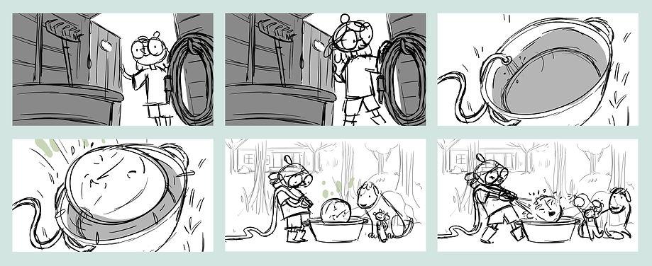 Storyboard // Kloden og Klimaklovnen (in dev.) | Juliette Viger Art