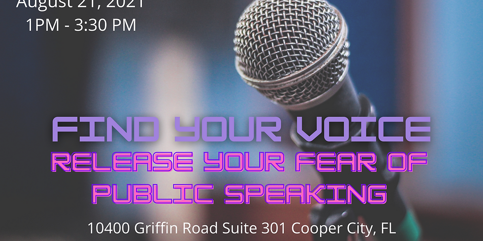 Find Your Voice: Release Your Fear Of Public Speaking
