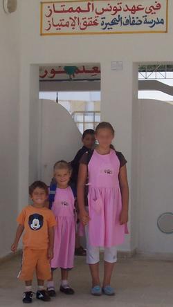 1. Schultag von 3 Österreichern