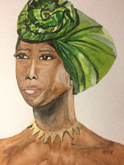 african lady - Turban?