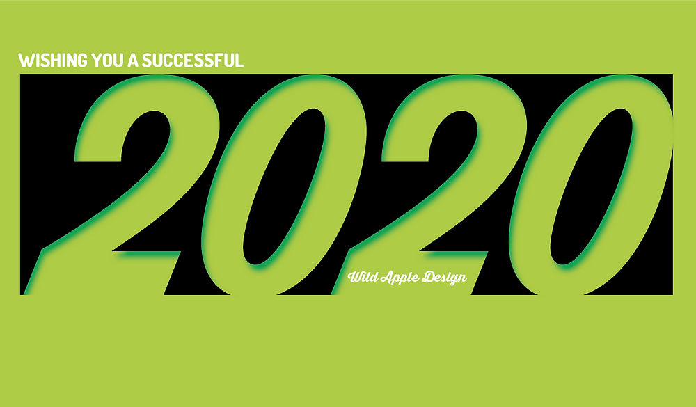 A message from Wild Apple Design | wishing everyone a successful 2020