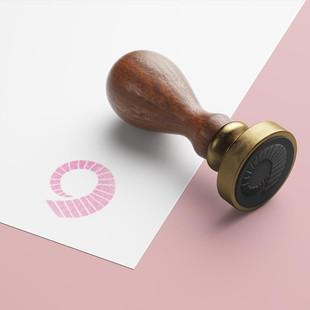 Custom wooden brand stamp