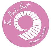 Pink Goat restaurant brand design on a pink background
