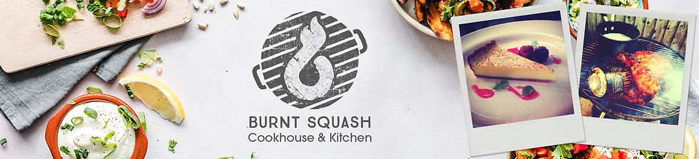 Restaurant banner design logo designed by Wild Apple Design