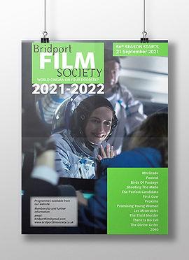 Bridport Film Society poster design 2021-2022