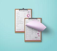 Restaurant clipboard menu mockup