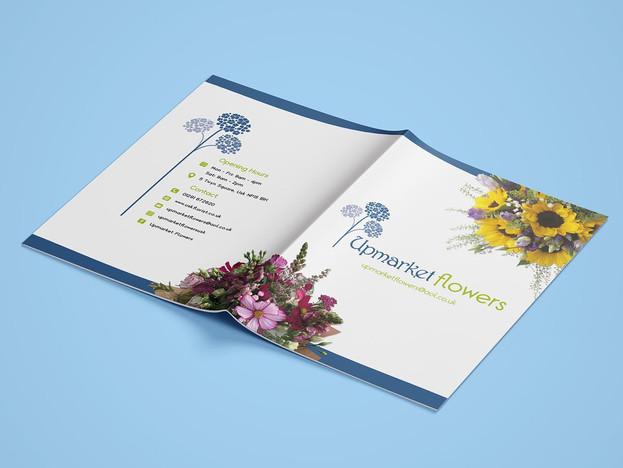 Florist Brochure front & back