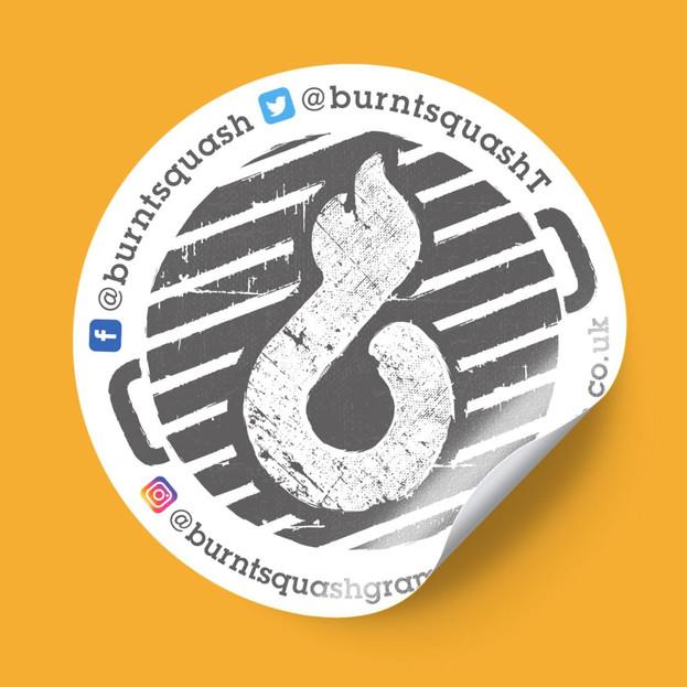 Burnt Squash Sticker