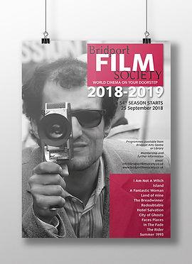 Bridport Film Socitey poster design 2018-2019