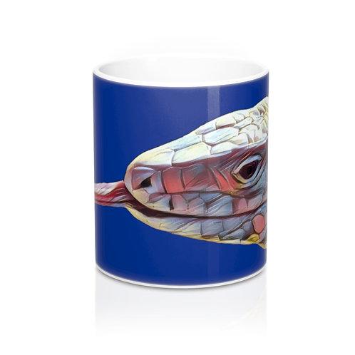 Polar Purple Tegu Lizard Design Mug 11oz, Tegu World, Tegu, Blue