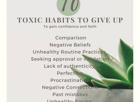 10 toxic habits to give up