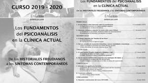 Los fundamentos del psicoanálisis en la clínica actual (Curso 2019-2020)
