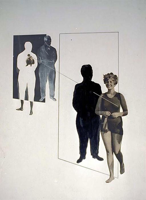Collage sobre los celos, obra de Laszlo Moholy-Nagy